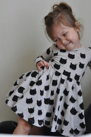 Miss Sophia in the RYB Little Bear dress.