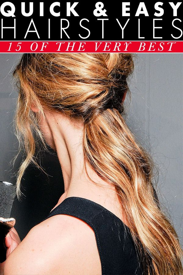 best quick and easy hairstyles