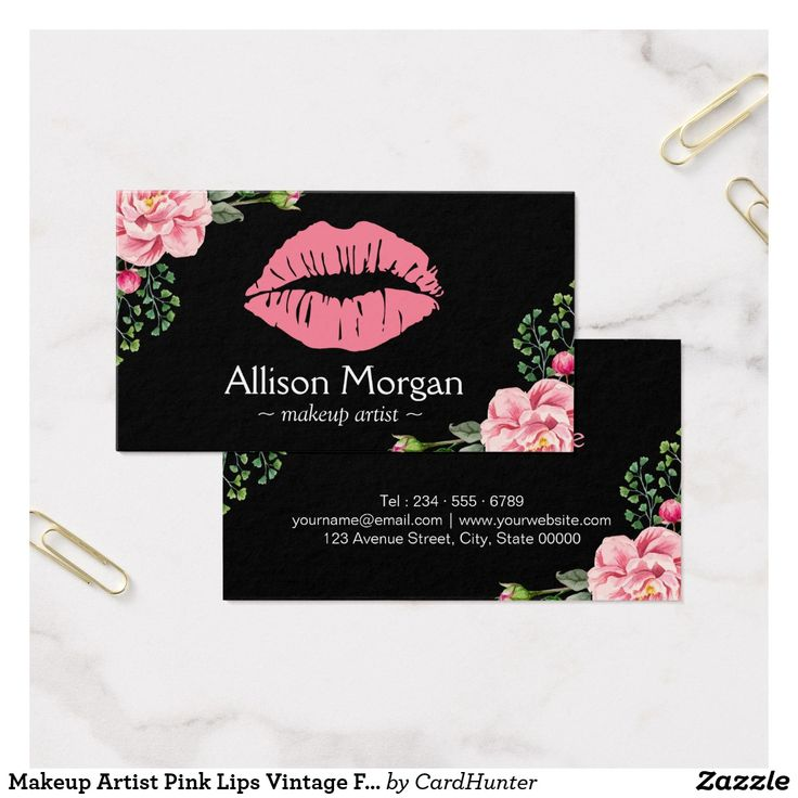 53 best Pink Business Cards images on Pinterest   Business cards ...