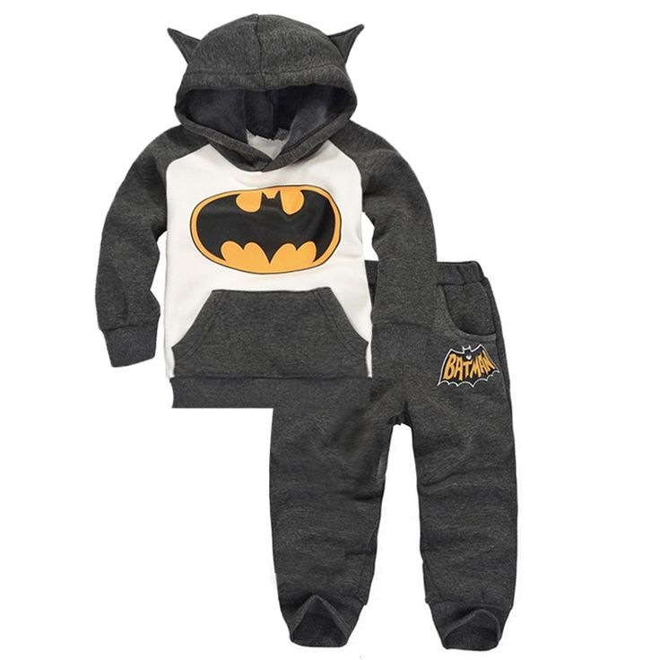 Fall 2015 new boy batman suit children s cartoon modelling suits with velvet suit children Children. Click visit to buy #BabyGirlClothingSet #BabyGirl #ClothingSet