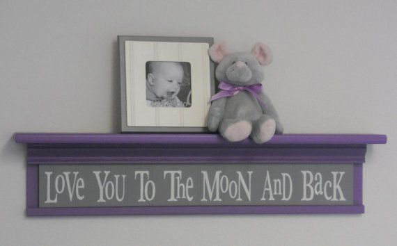 Purple and Grey Baby Nursery Decor  Baby Wall by NelsonsGifts, $53.00