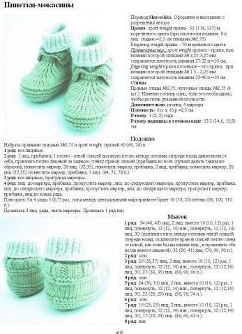Internet Site, Knitting Scheme