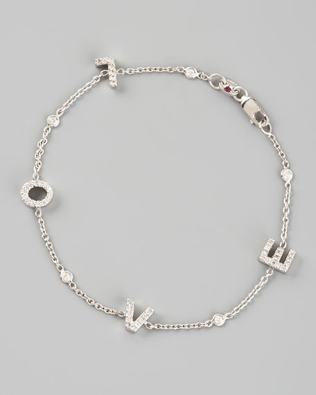 roberto coin diamond love bracelet
