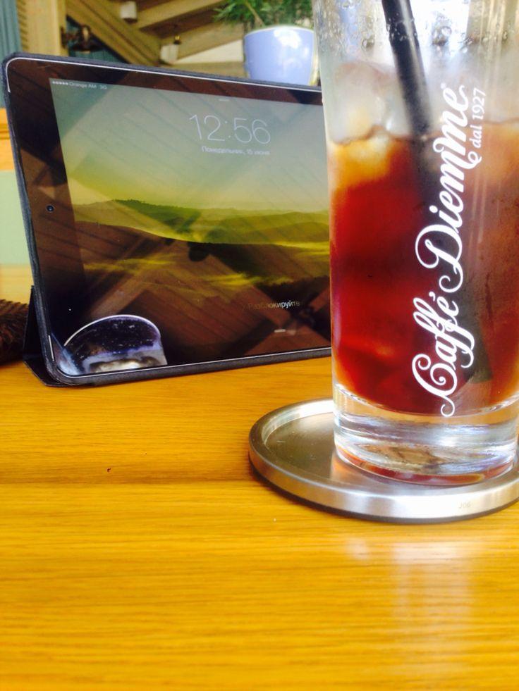 "ice coffee americano ""caffe Diemme"",at ""Salon Armenian"" restaurant"