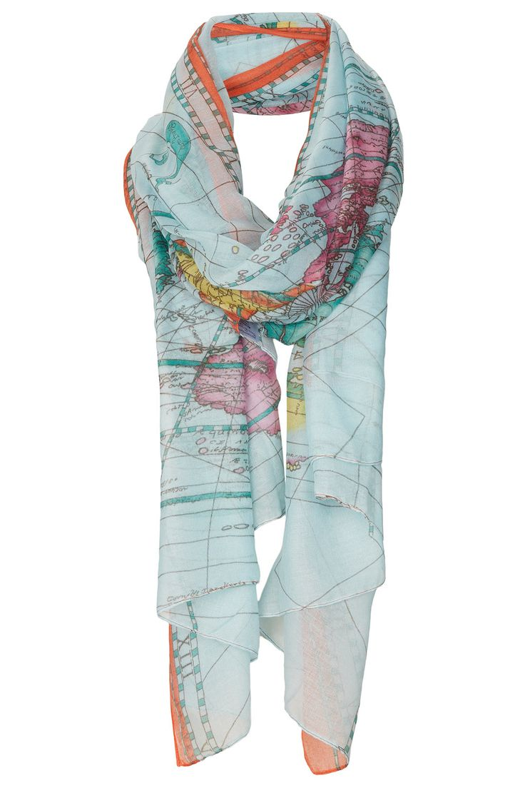 77 best scarves showing maps images on pinterest cards maps and map print scarf gumiabroncs Image collections