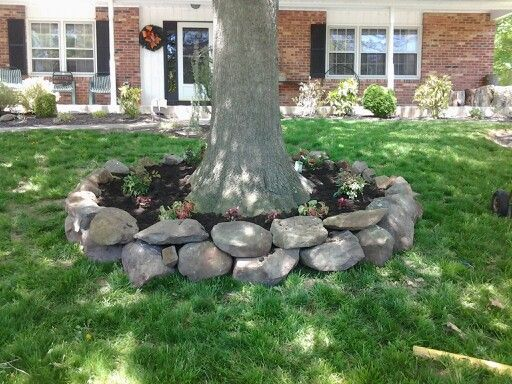 11 best ideas about willow brick circle on pinterest for Landscaping rocks under trees