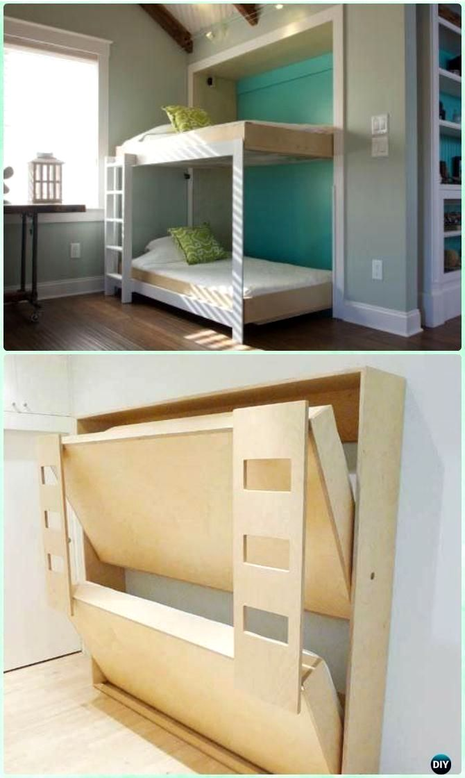 Leading Space Saving Folding Bed Children Folding Bed Bedroom Home Decor Ideas Designs Source Bunk Bed Plans Bed Frame Design Space Saving Bunk Bed
