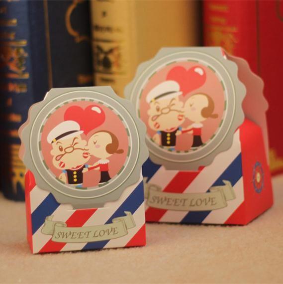 2015 Personalized Red Caramella di Cerimonia Nuziale 50 pz Baby Shower Contenitore di caramella Scatole di Favore di Nozze Festa Cinese Contenitore di Regalo di Carta Casamento