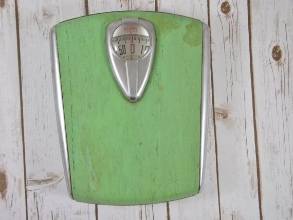 BORG Vintage Scale  Mint Green Bathroom by VintageTreasureDen