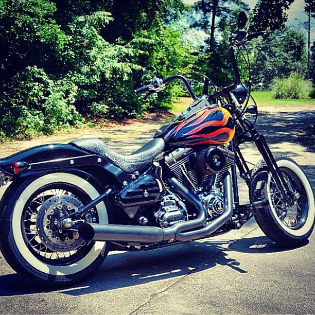 FOR SALE: 2007 #HarleyDavidson #FLSTSC #Bobber | www.CycleCrunch.com/381457 | $17,500 (Best Offer or Trade for #Shovelhead) || #harley #vtwin #chopper #livetoride #ridetolive #CycleCrunch #softail #springer