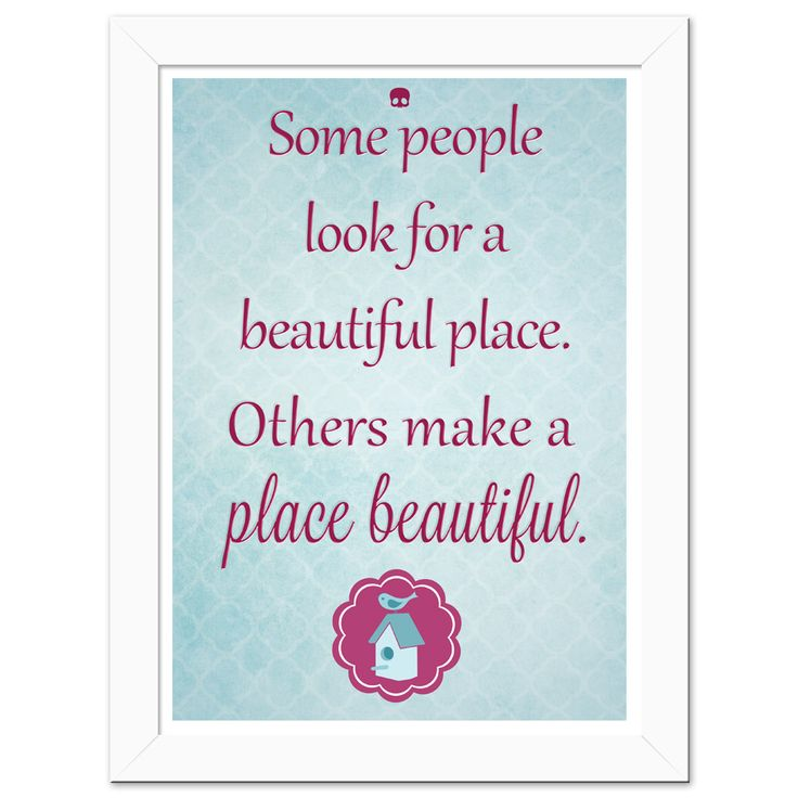 Poster Beautiful Place  http://candyart.tanlup.com/category/72385/tipograficos