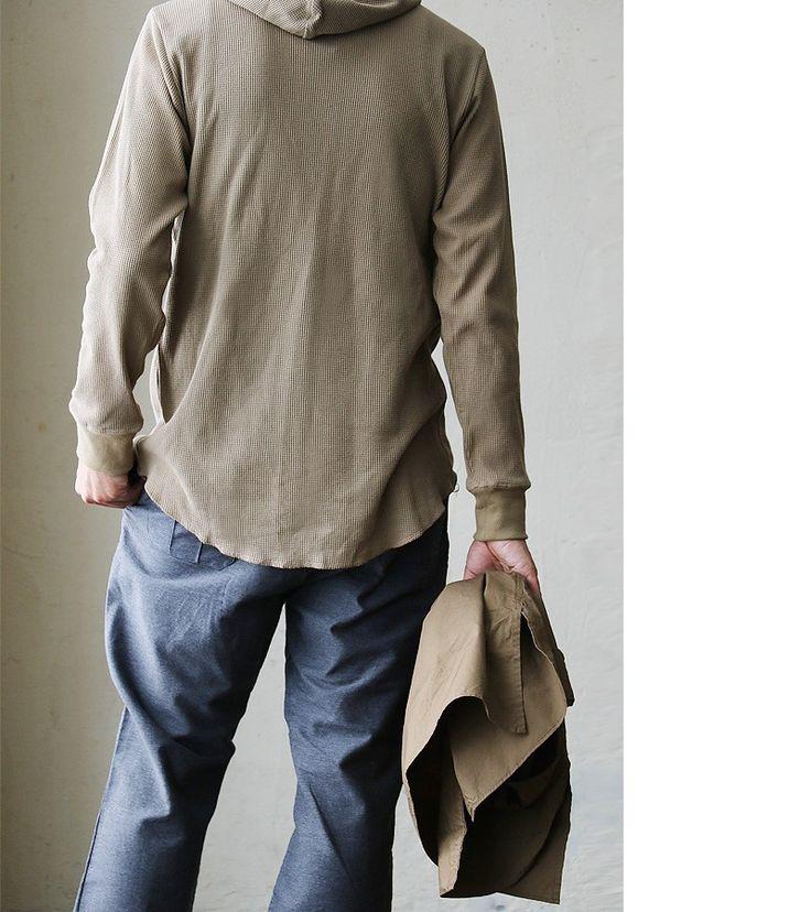 【楽天市場】【送料無料】 Audience [オーディエンス] 長袖 パーカー プルオーバー ロング丈 綿100% 度詰め ワッフル 日本製 メンズ 男性用 レディース 女性用 トップス 重ね着 カジュアル 着回し 大人:PATY