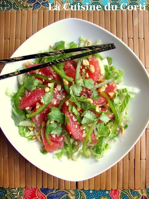 La Cuisine du Corti: Salade thaï au chou chinois et pomélo