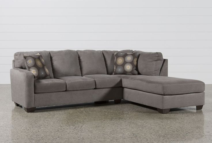Zella Charcoal 2 Piece Sectional W Raf Chaise Another Good
