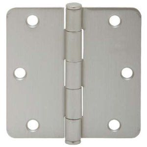 "Schlage 1012 3.5"" x 3.5"" Plain Bearing 1/4"" Radius Corner Mortise Hinge - Three Hinges, Satin Nickel by Schlage Lock Company. $13.04. Schlage 1/4"" Radius Corner 3.5"" x 3.5"" Steel Plain Bearing Mortise Hinge - Three Hinges Coordinating with Schlage locks and builders hardware these hinges feature a durable steel construction and lubricated knuckles that prevent binding. When its quality door hardware you are looking for Schlage is what you will find. Features: Sold as Three..."