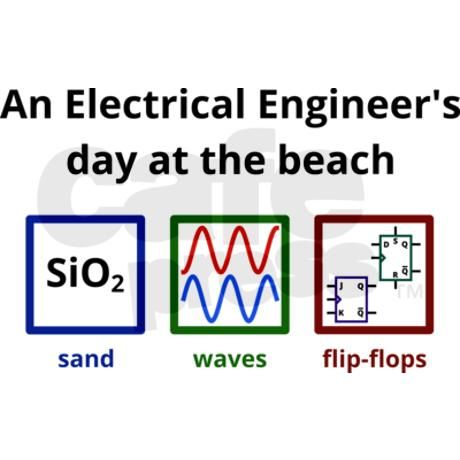 An Electrical Engineer's day at the beach Coffee C on CafePress.com