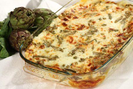 artichoke lasagna