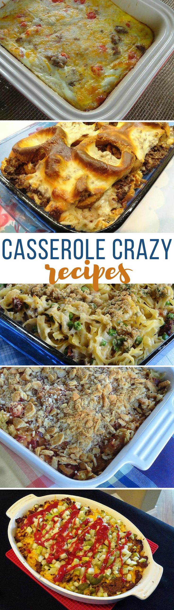 We've gone crazy for casserole recipes! There are so many easy, fun and tasty dishes to try... and so little time! Try one of these yummy casseroles tonight.