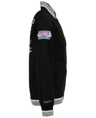 Mitchell & Ness Men's Oakland Raiders Team History Warm Up Jacket - Black/Silver XXL