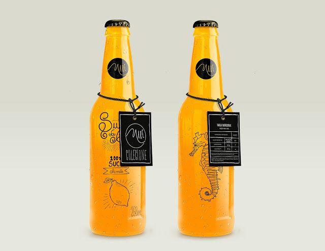 Maré (jus de fruits)   Design (projet étudiant) : Felipe Burguês (Esamc Campinas), Campinas, Brésil (octobre 2015)