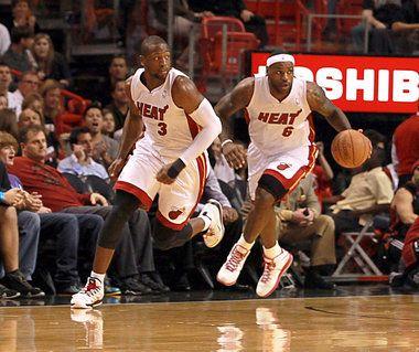 Dwyane Wade and LeBron James