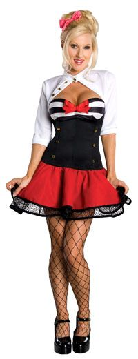 Sexy Naval Pinup Sailor Costume - Sailor Costumes