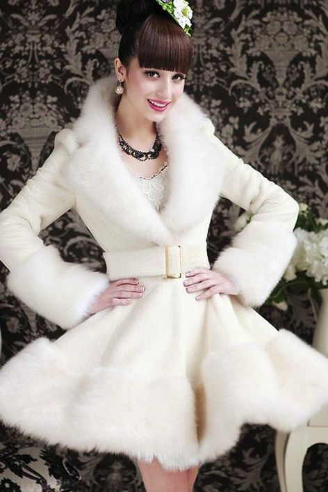 17 Best ideas about White Fur Jacket on Pinterest | White fur coat
