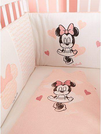 Tour de lit 'Minnie'                                                                                         rose Bébé fille
