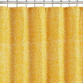 Crate U0026 Barrel Marimekko Tamara Yellow Shower Curtain