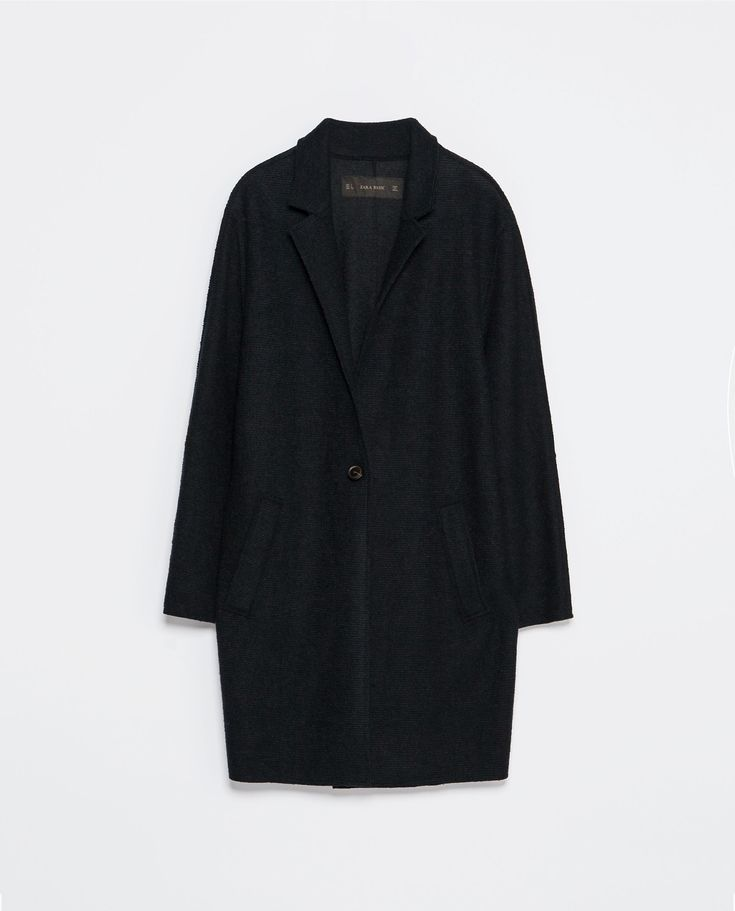 zara navy wool cocoon coat - Google Search
