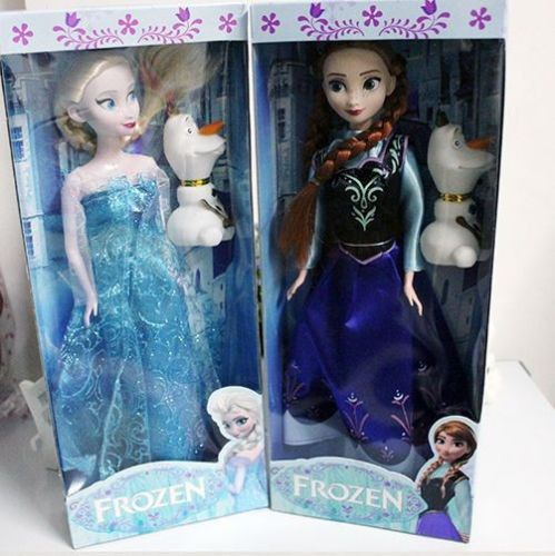 Frozen Princess Elsa and Anna Doll with Olaf Toy 12'' Classic Doll gift USA