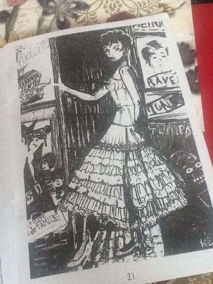 Audrey Hepburn illustration by me  Black and white ink