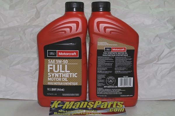 Motorcraft 5w 50 Full Synthetic Motor Oil Used On Multiple