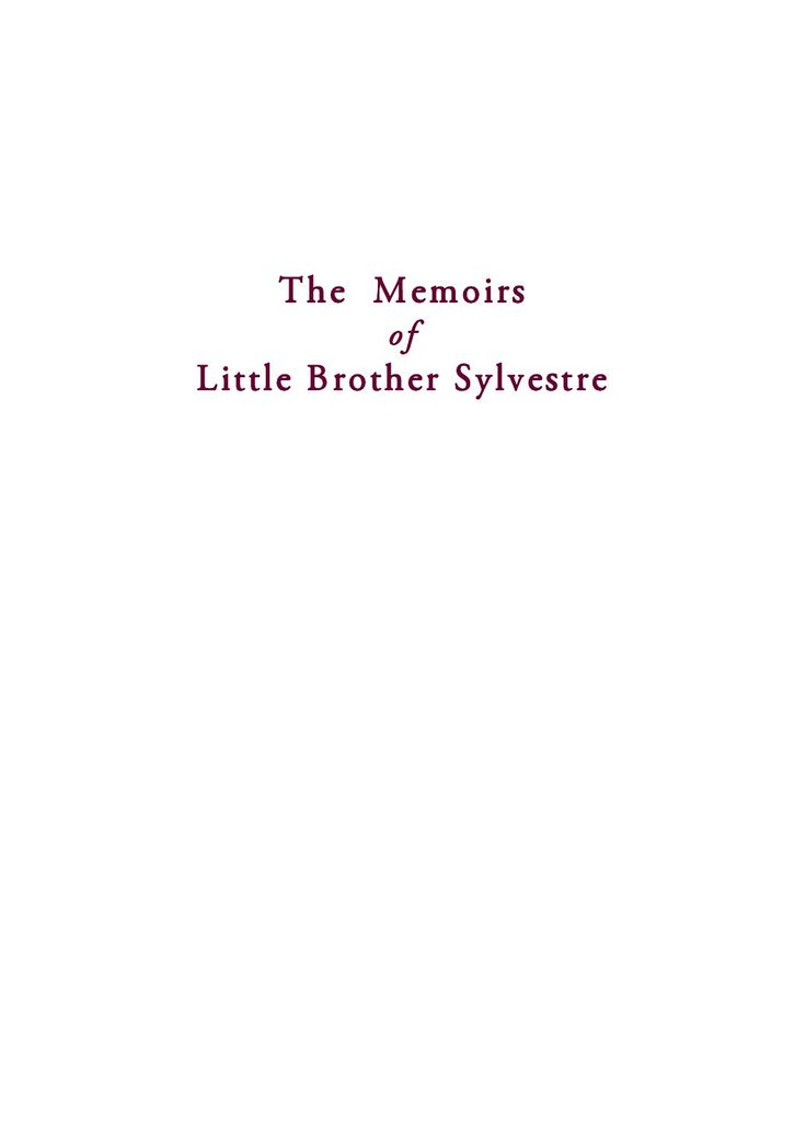The Memoirs of Little Brother Sylvestre