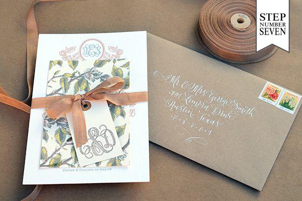 Oh So Beautiful Paper: DIY Tutorial: Savannah-Inspired Floral Wedding Invitations by Antiquaria