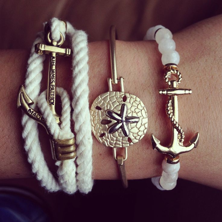 Preppy Paradise: I want all three of these nautical bracelets!