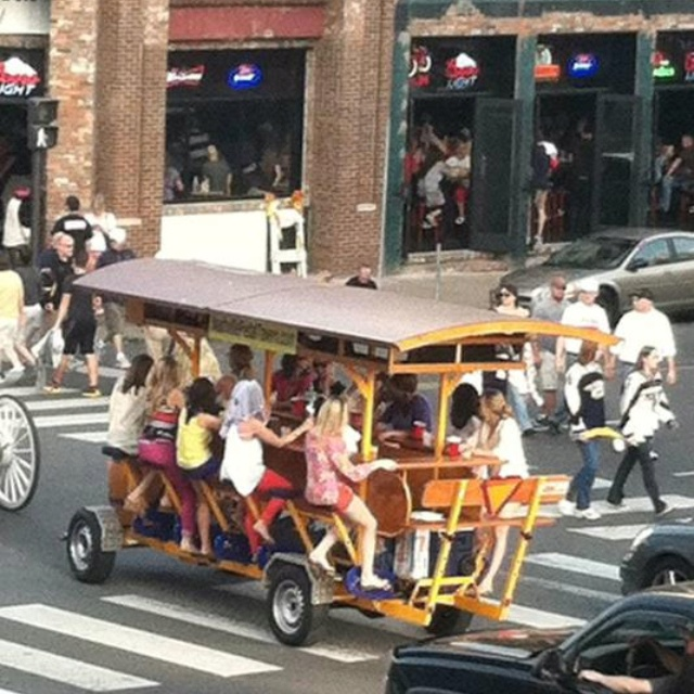 Nashville Pedal Tavern ...so want to do this for my bachelorette party!!! This is in Nashville? We have to find it!