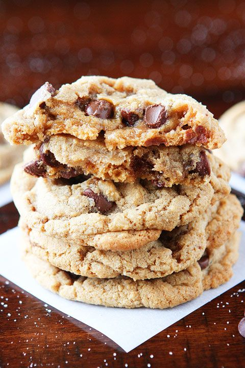 Hazelnut Butter Cookies. Soft, chewy cookies made with creamy hazelnut butter!! It's like a Nutella chocolate chip cookie!!