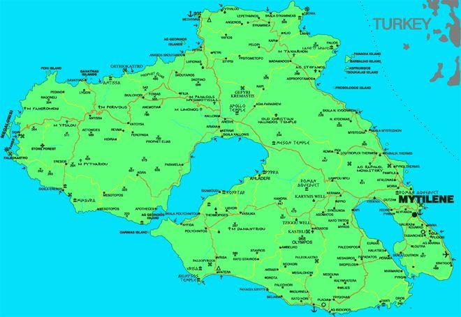 Λέσβος Χάρτης της Λέσβου