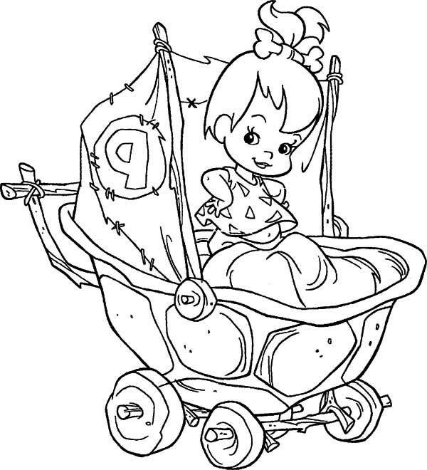 pebbles coloring pages | Bam Bam Flintstones Coloring Pages Coloring Pages