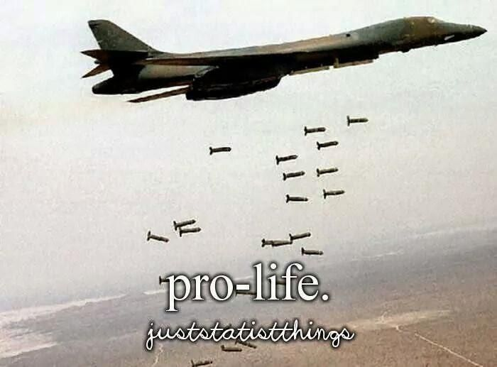 You cannot be pro-war and prolife.
