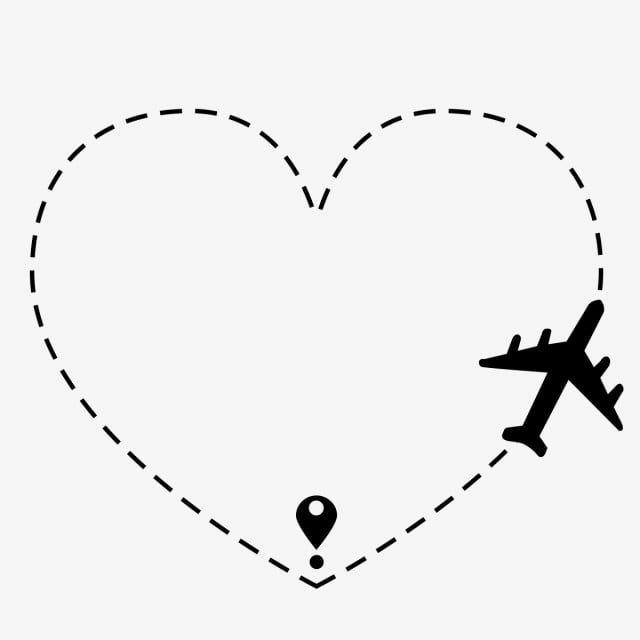 V Vozduhe Samolet Marshruta Poleta S Nachala Tochki I Tire Linii Otslezhivat Samolet Samolet Liniya Png I Psd Fajl Png Dlya Besplatnoj Zagruzki Clip Art Logo Design Free Templates Heart Drawing