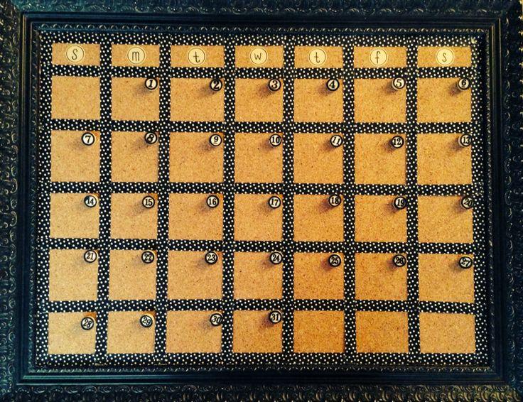 Corkboard Calendar DIY