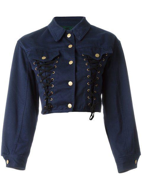d1fc50aa23e73 Shop Jean Paul Gaultier Vintage Junior Gaultier corset denim jacket ...