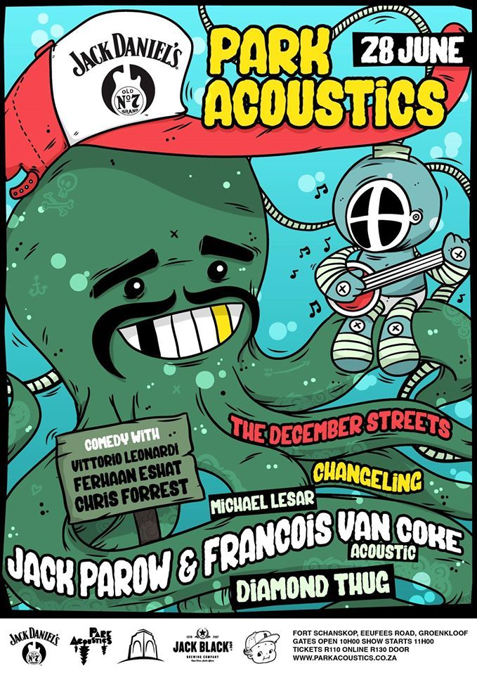 Win a set of double tickets: Park Acoustics in association with Jack Daniel's South Africa presents Jack Parow & Francois van Coke, The December Streets and many More!