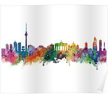 Berlin   #berlin #skyline #landscape #cityscape #art #print #poster #home #office #wall #decor #gift #ideas #travel #colorful #europe #deutschland #germany #german #city #architecture #tower #abstract #watercolor #minimalist