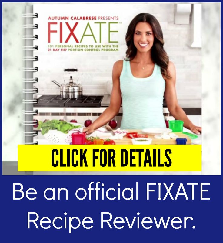 Be an official Fixate recipe reviewer.