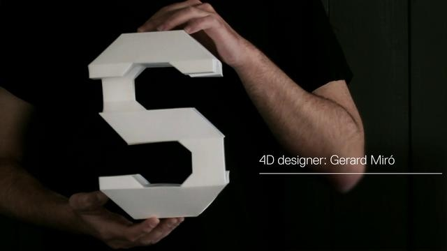 Barcelona-based design studio LoSiento creates typography in four dimensions.