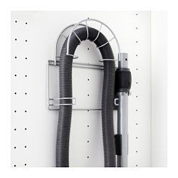 IKEA - VARIERA, Vacuum hose holder, Can be mounted on the inside of the cabinet to make it easier to store your vacuum cleaner.