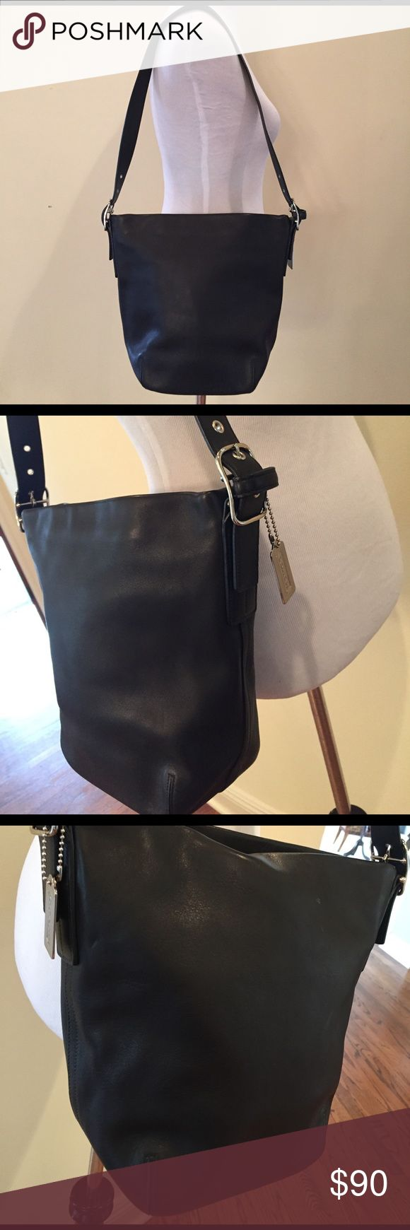 COACH Black Leather Hobo Shoulder Bag Great Condition! Coach Bags Shoulder Bags